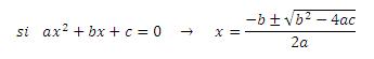 fórmula segundo grado