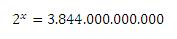 ecuación exponencial