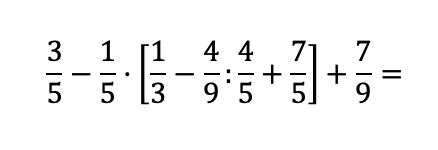 Operación combinada de fracciones