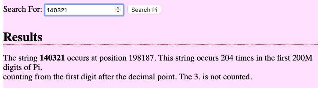 Todos los números están en Pi